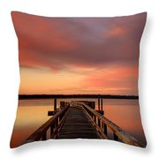 Down The Dock Throw Pillow