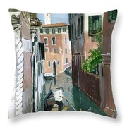 Down The Green Water Throw Pillow