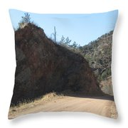 Down The Hall And To The Left Throw Pillow