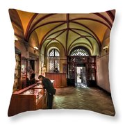 Down The History Lane Throw Pillow