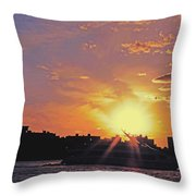 Down The Hudson Throw Pillow