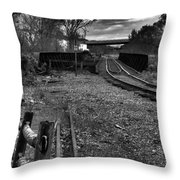 Down The Rail Throw Pillow