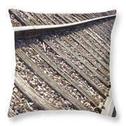 Down The Railroad Throw Pillow