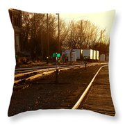 Down The Right Track Throw Pillow