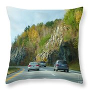 Down The Road On Route 89 Throw Pillow