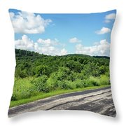 Down The Road Throw Pillow
