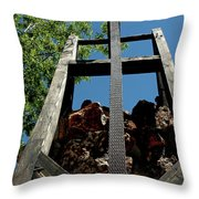 Down The Shaft Virginia City Nv Throw Pillow