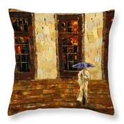 Down The Steps Throw Pillow