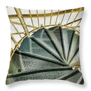 Down The Upstairs Throw Pillow