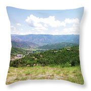 Down The Valley At Snowmass #2 Throw Pillow