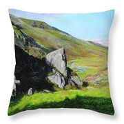 Down The Valley Throw Pillow
