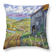 Down To The Fjord Throw Pillow