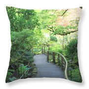 Down To The Garden Throw Pillow
