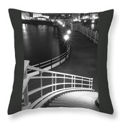 Down To The Pier Throw Pillow