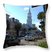 Down Town Charleston Throw Pillow