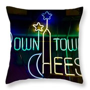 Down Town Cheese Throw Pillow