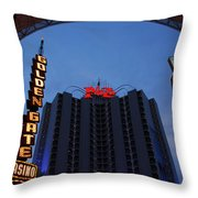 Down Town Las Vegas Throw Pillow