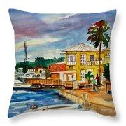 Down Town St Croix Throw Pillow