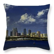 Down Town Tampa Throw Pillow