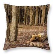 Down Tree Throw Pillow