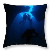 Down We Go Throw Pillow
