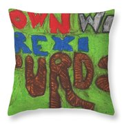 Down With Brexiturds Throw Pillow