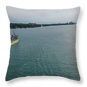 Downbound At Belle Isle Throw Pillow