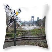 Downbound Train Throw Pillow