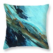 Downhill Slide Throw Pillow