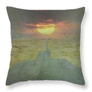 Downhill Sunset Throw Pillow