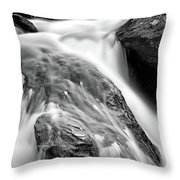 Downstream From Anna Ruby Falls Throw Pillow