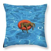 Downtime Throw Pillow