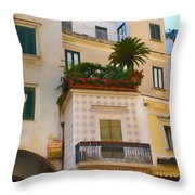 Downtown Amalfi Throw Pillow