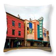 Downtown Anchorage Alaska Throw Pillow