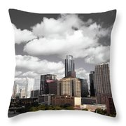 Downtown And Lake Throw Pillow