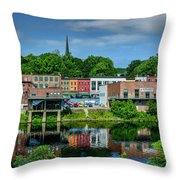 Downtown Augusta, Maine Throw Pillow