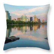 Downtown Austin Texas Skyline 2 Throw Pillow