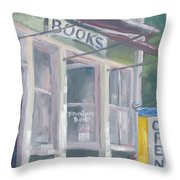 Downtown Books Four Throw Pillow