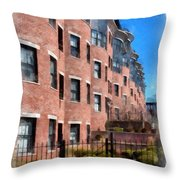 Downtown Burlington Vermont Watercolor Throw Pillow