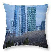 Downtown Chicago Throw Pillow