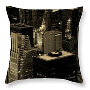 Downtown Chicago At Sunset Throw Pillow