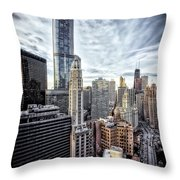 Downtown Chicago Cityscape 1  Throw Pillow