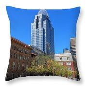 Downtown Cincinnati  4188 Throw Pillow