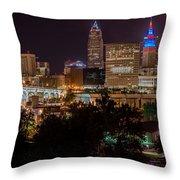 Downtown Cleveland Veteran Memorial Bridge  Throw Pillow