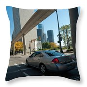 Downtown Detroit Throw Pillow
