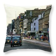 Downtown Edinburgh  Throw Pillow