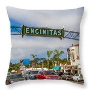 Downtown Encinitas Throw Pillow