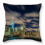 Downtown From Brooklyn Throw Pillow