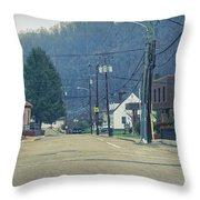 Downtown Harlan Throw Pillow