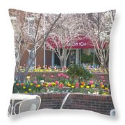 Downtown, Hendersonville, Nc Throw Pillow